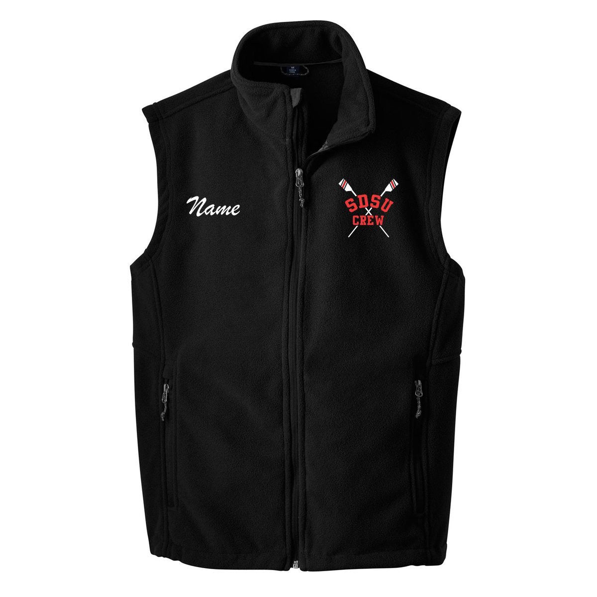 SDSU Crew Team Nylon/Fleece Vest