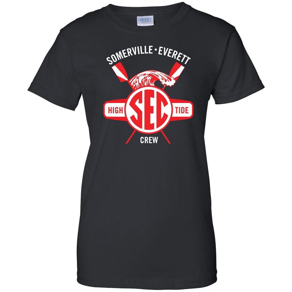 100% Cotton Somerville-Everett High Tide Crew Women's Team Spirit T-Shirt