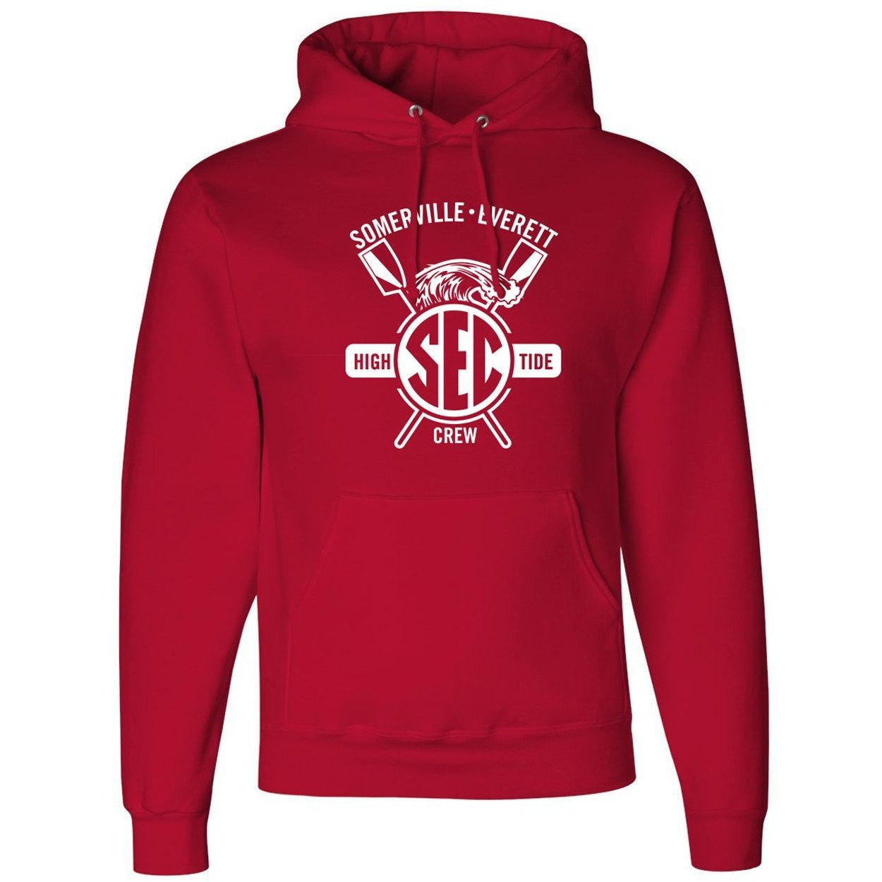 50/50 Hooded Somerville-Everett High Tide Crew Pullover Sweatshirt