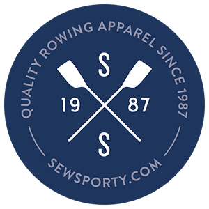 "Official SewSporty ""Crossed Oars"" Sticker"