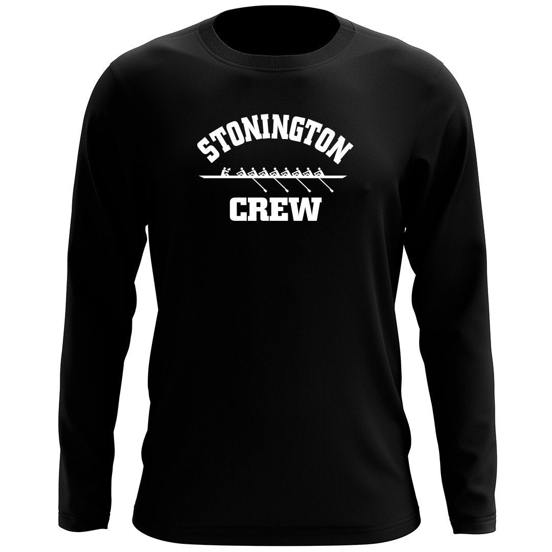 Custom Stonington Crew Men's Long Sleeve Cotton T-Shirt