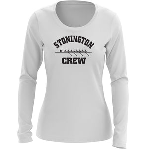 Custom Stonington Crew Women's Long Sleeve Cotton T-Shirt