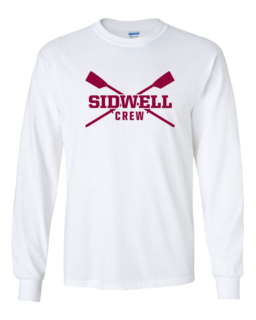 Custom Sidwell Friends Rowing Long Sleeve Cotton T-Shirt