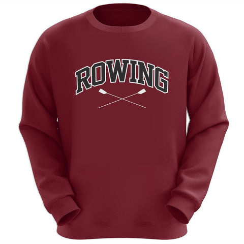 Row Crewneck Sweatshirt (Maroon)