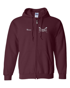 50/50 Hooded Sidwell Friends Rowing Sweatshirts