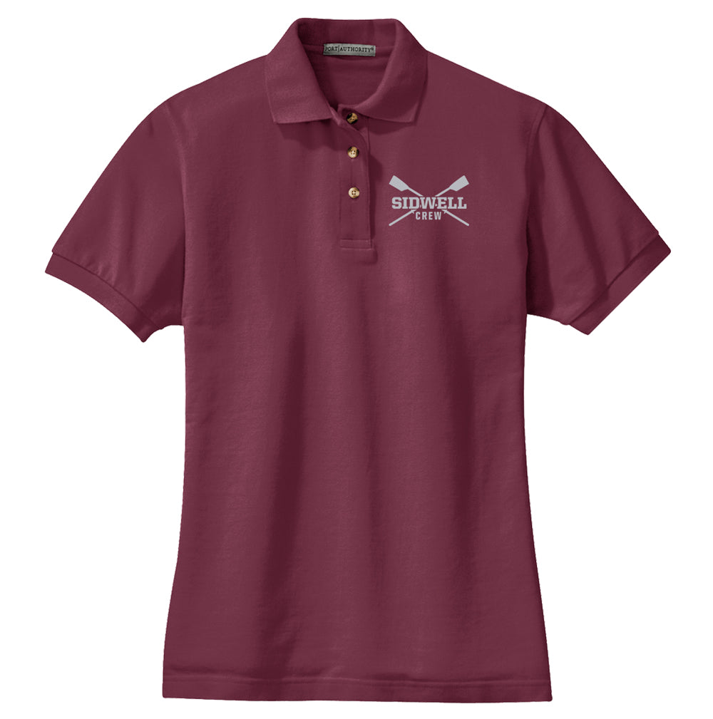 Sidwell Friends Rowing Ladies Cotton Polo