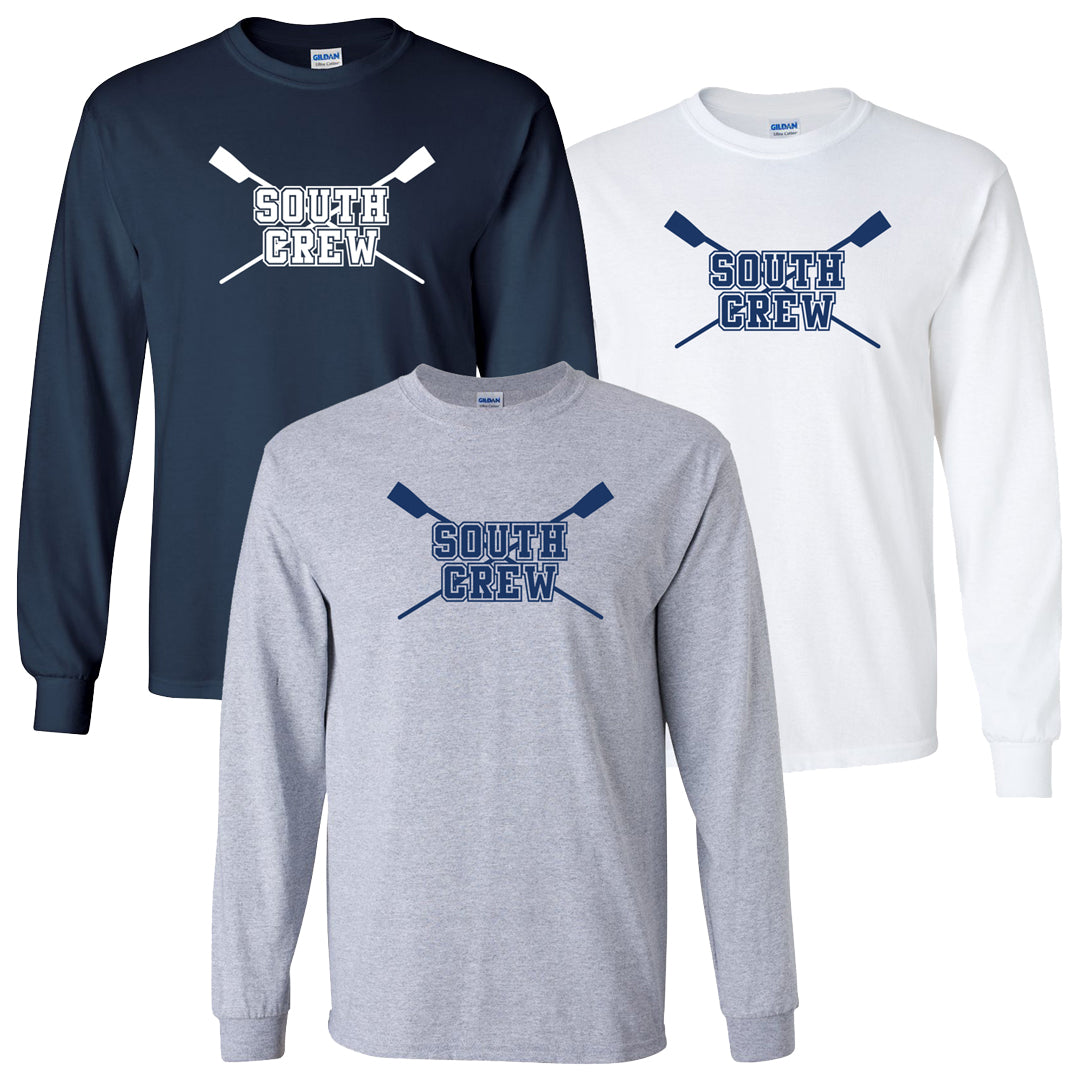 Custom Parkersburg South Crew Long Sleeve Cotton T-Shirt