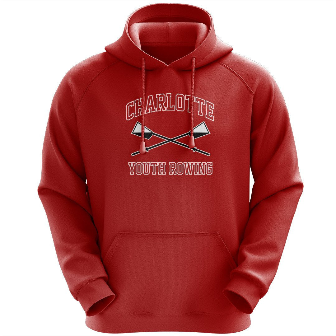 50/50 Hooded Charlotte Youth Rowing Club Pullover Sweatshirt