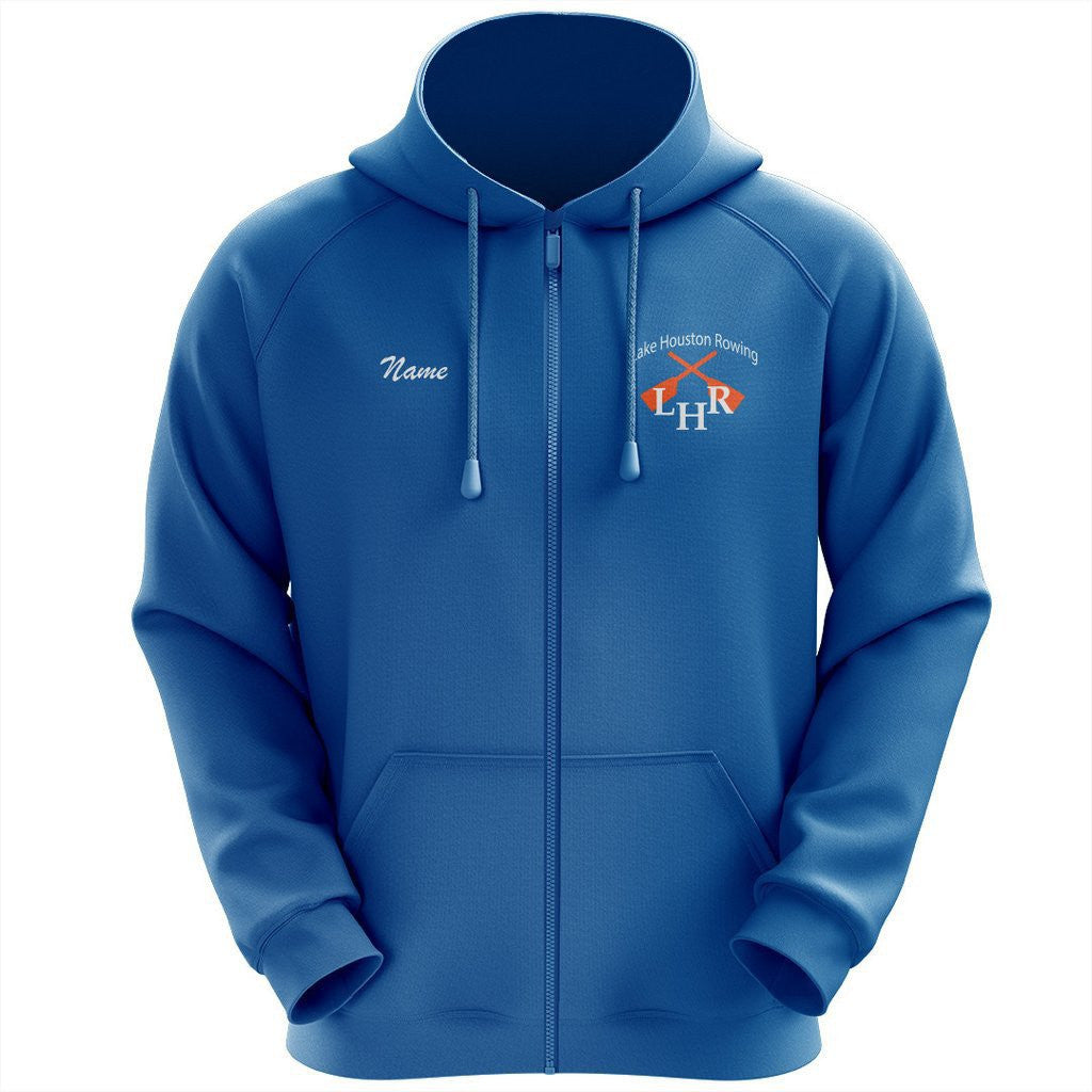 50/50 Hooded Lake Houston Rowing Full Zipper Sweatshirt