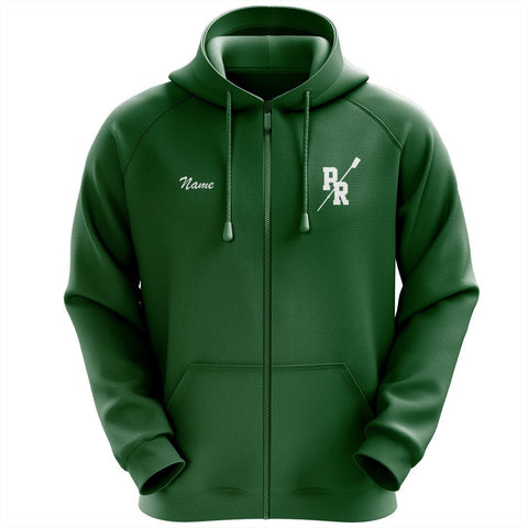 50/50 Hooded Pine Richland Crew Full Zipper Sweatshirt