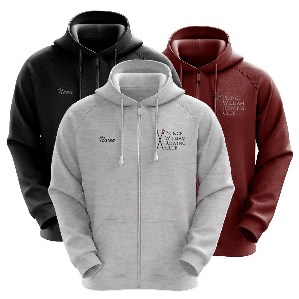 50/50 Hooded Prince William Rowing Club Full Zipper Sweatshirt