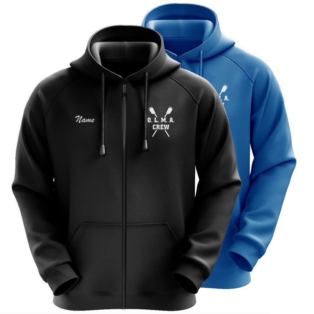 50/50 Hooded OLMA Rowing Gear Full Zipper Sweatshirt