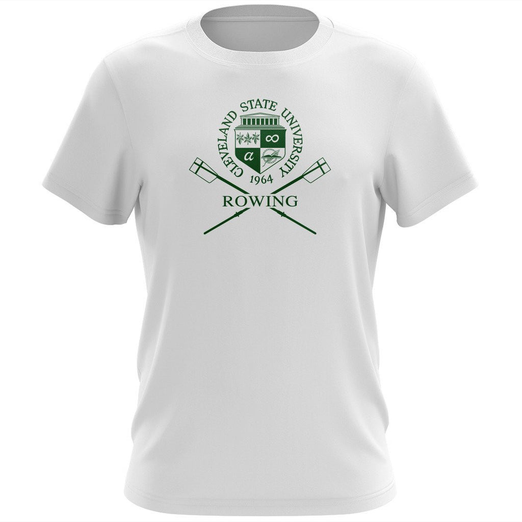 100% Cotton Cleveland State University Rowing Men's Team Spirit T-Shirt