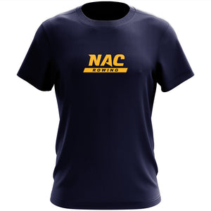 100% Cotton NAC Crew Men's Team Spirit T-Shirt - Center Logo Navy