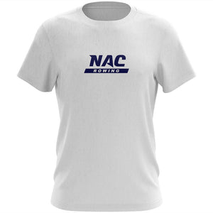 100% Cotton NAC Crew Men's Team Spirit T-Shirt - Center Logo Ash
