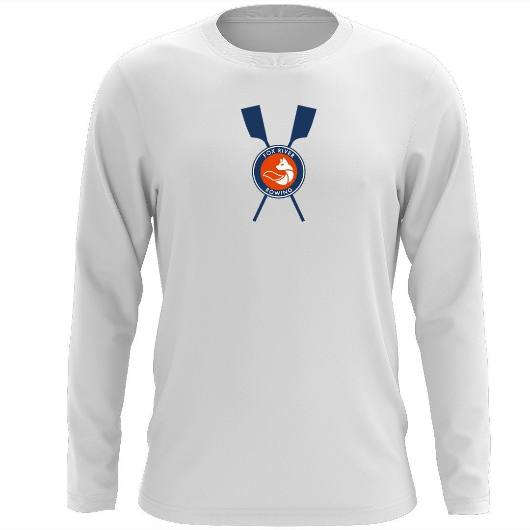 Custom Fox River Rowing Association Long Sleeve Cotton T-Shirt