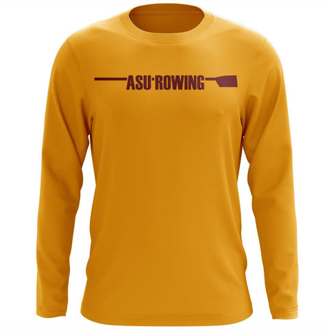 Custom Arizona State Rowing Long Sleeve Cotton T-Shirt