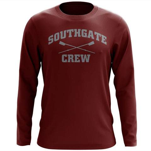 Custom Southgate Crew Long Sleeve Cotton T-Shirt