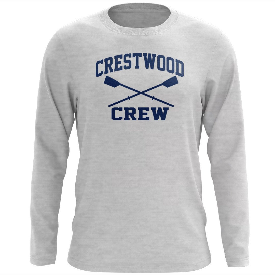 Custom Crestwood Crew Long Sleeve Cotton T-Shirt
