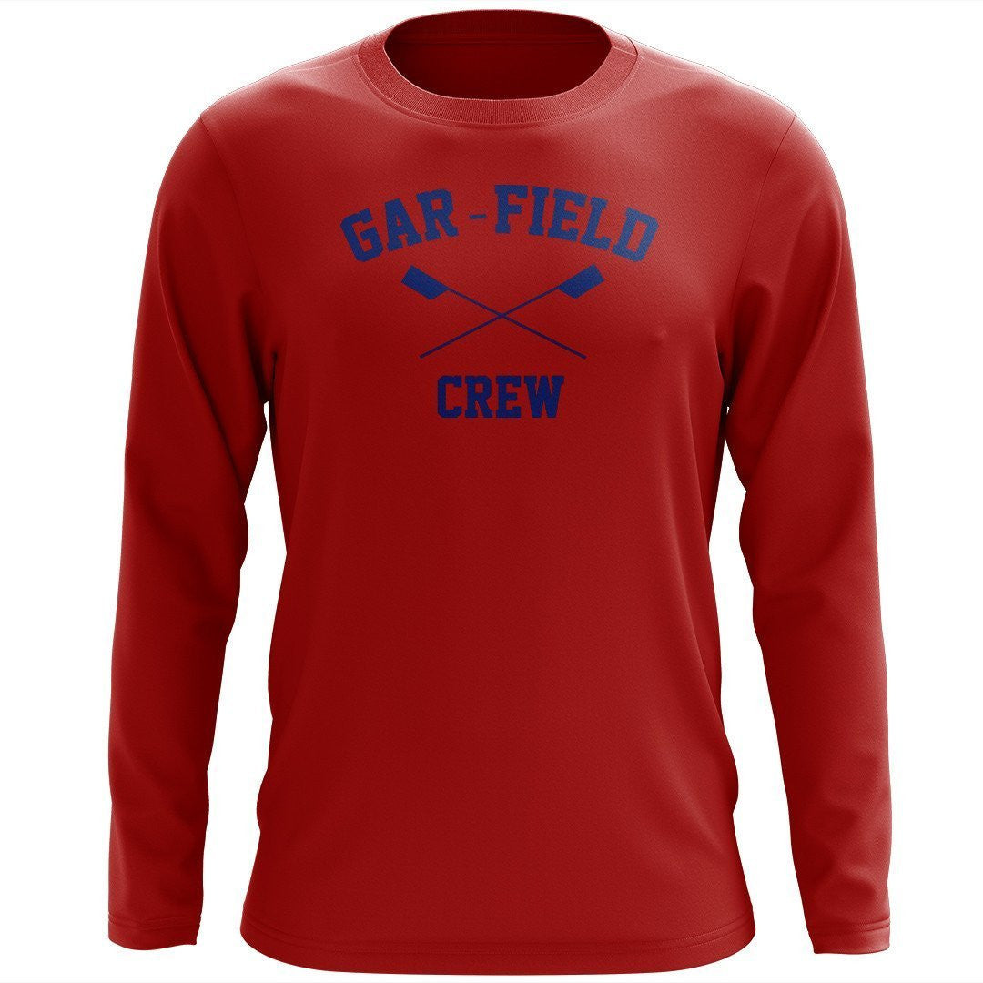 Custom Garfield Crew Long Sleeve Cotton T-Shirt