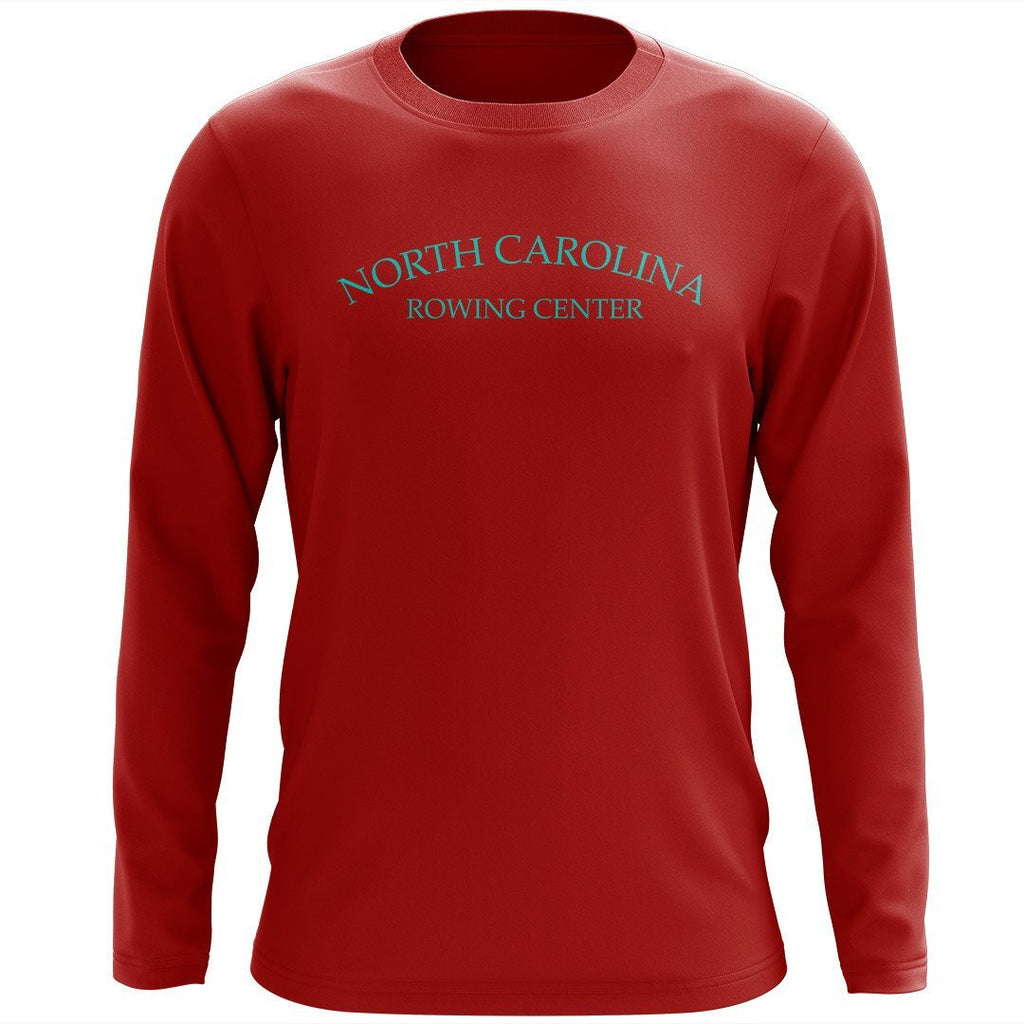 Custom North Carolina Rowing Center Long Sleeve Cotton T-Shirt