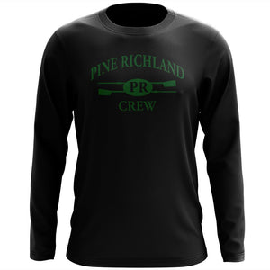 Custom Pine Richland Crew Long Sleeve Cotton T-Shirt