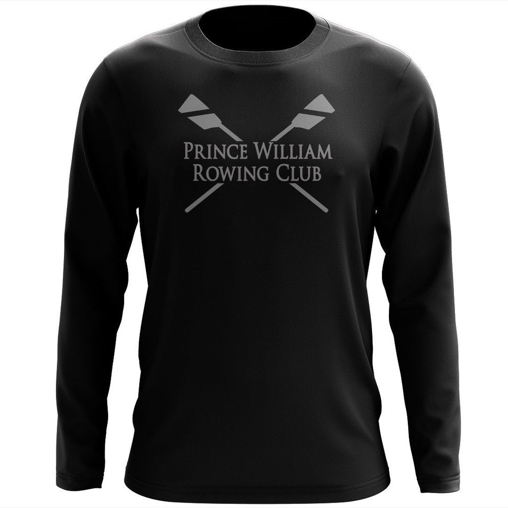 Custom Prince William Rowing Club Long Sleeve Cotton T-Shirt