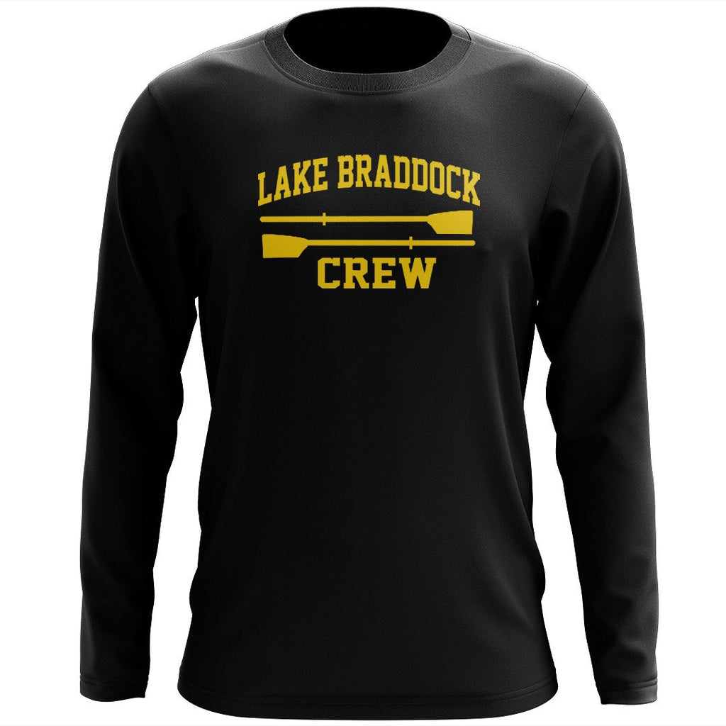 Custom Lake Braddock Crew Long Sleeve Cotton T-Shirt