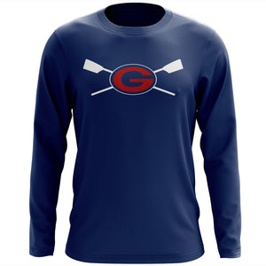 Custom Grassfield Crew Long Sleeve Cotton T-Shirt