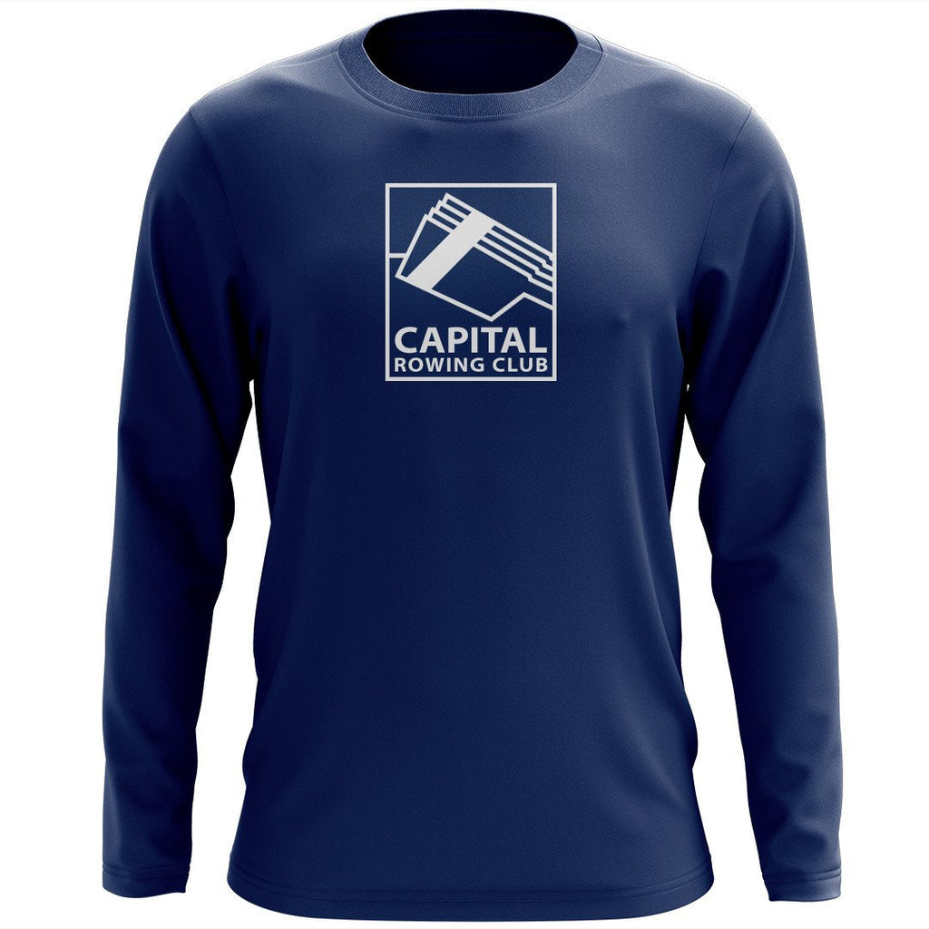 Custom Capital Rowing Club Long Sleeve Cotton T-Shirt