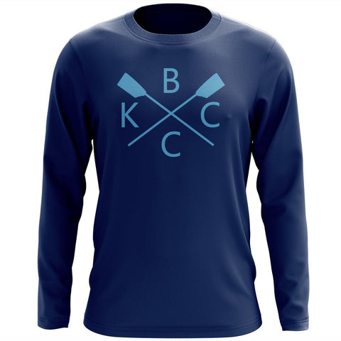 Custom Kansas City Boat Club Long Sleeve Cotton T-Shirt