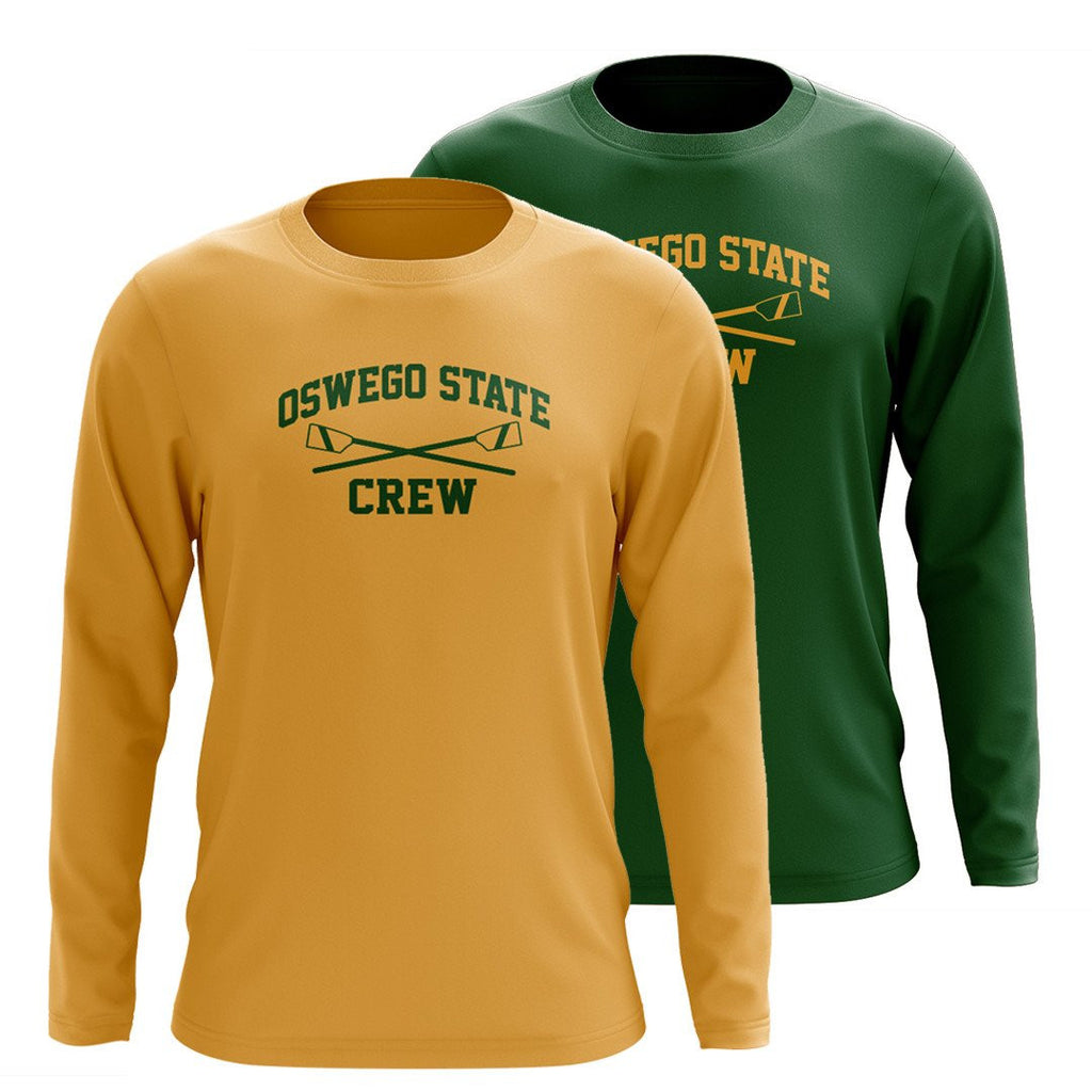 Custom Oswego State Crew Long Sleeve Cotton T-Shirt