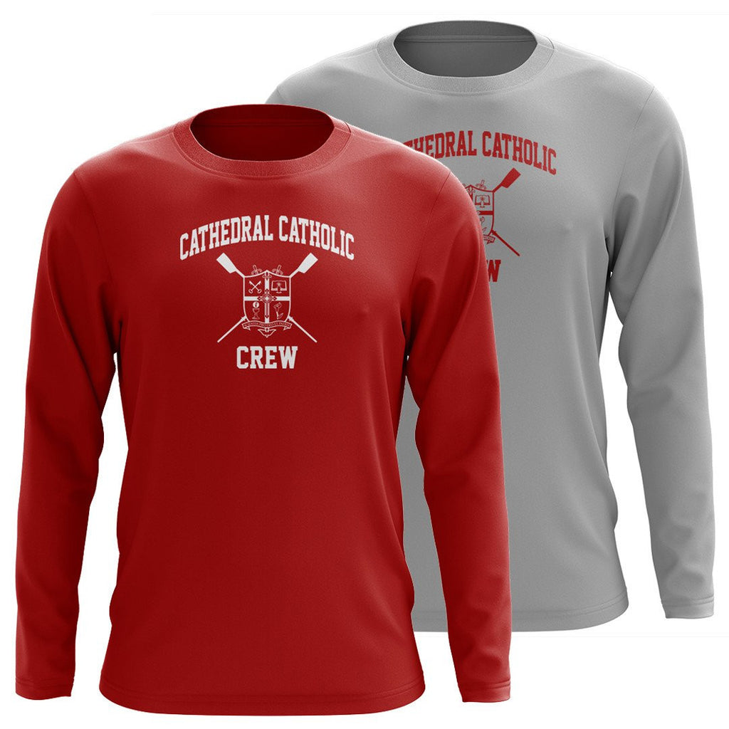 Custom Cathedral Catholic Crew Long Sleeve Cotton T-Shirt