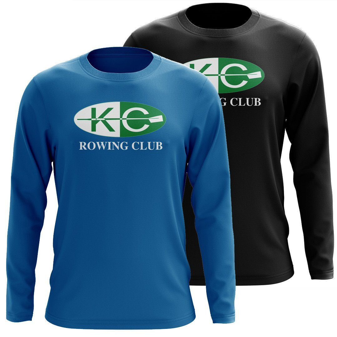 Custom Kansas City Rowing Club Long Sleeve Cotton T-Shirt