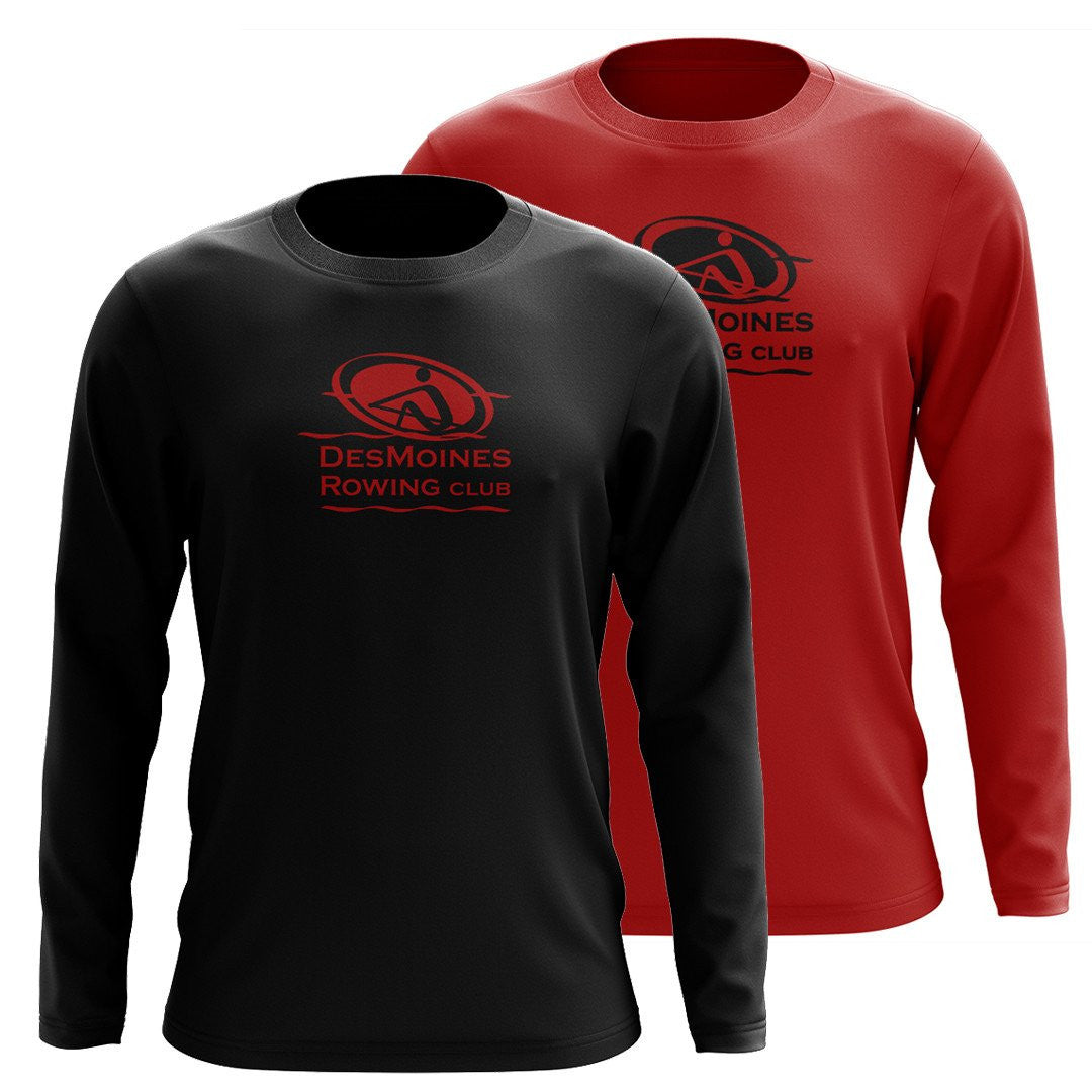 Custom Des Moines Rowing Club  Long Sleeve Cotton T-Shirt