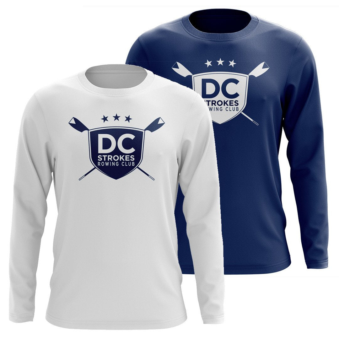 Custom DC Strokes Rowing Club Long Sleeve Cotton T-Shirt