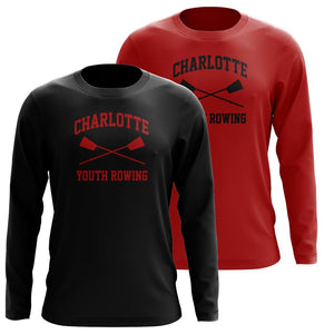 Custom Charlotte Youth Rowing Club Long Sleeve Cotton T-Shirt