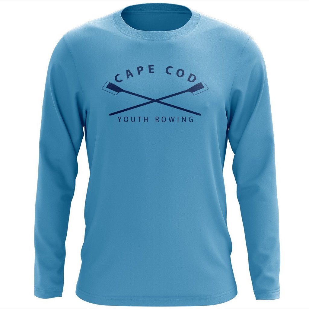 Custom Cape Cod Youth Rowing Long Sleeve Cotton T-Shirt