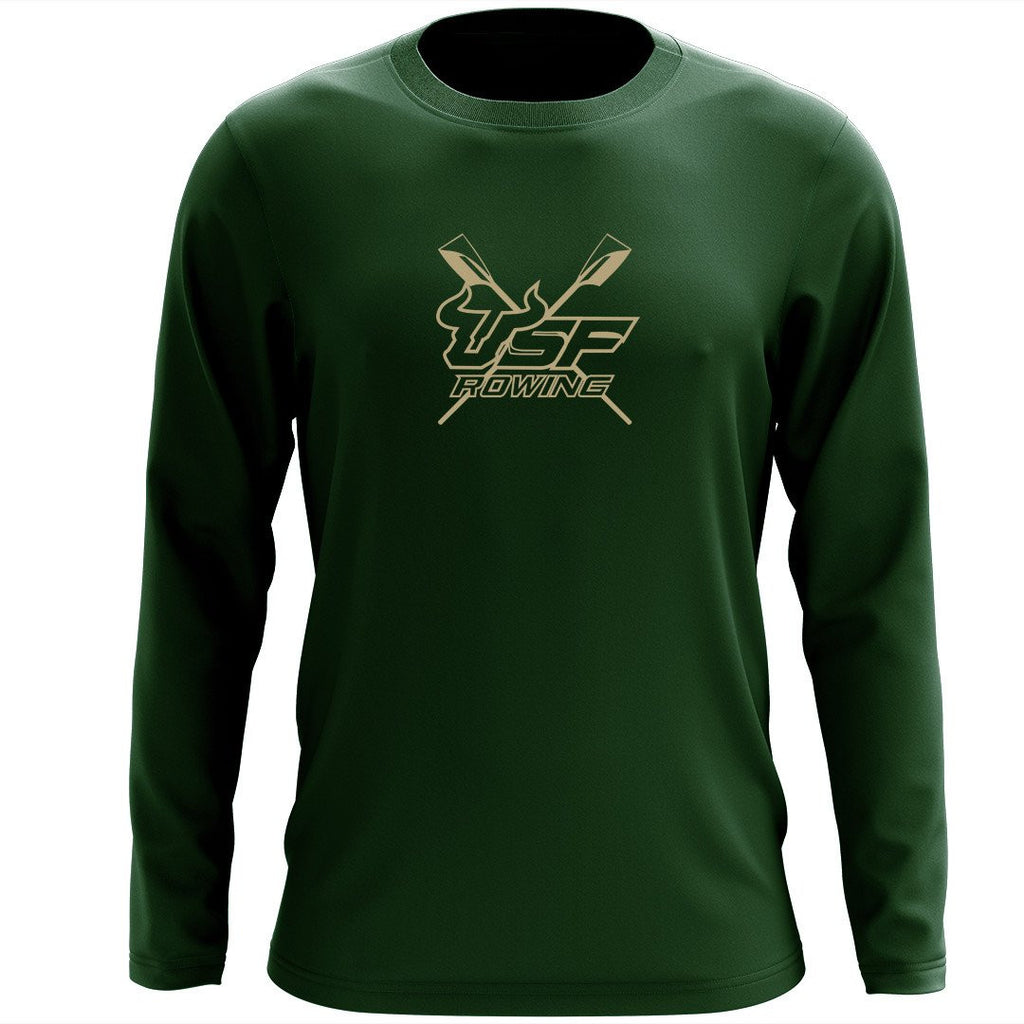 Custom University of Southern Florida Long Sleeve Cotton T-Shirt