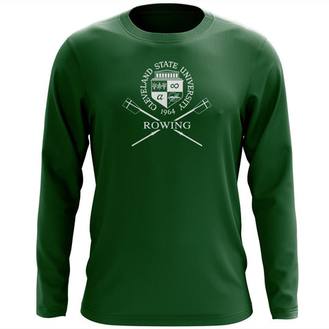 Custom Cleveland State University Rowing Long Sleeve Cotton T-Shirt