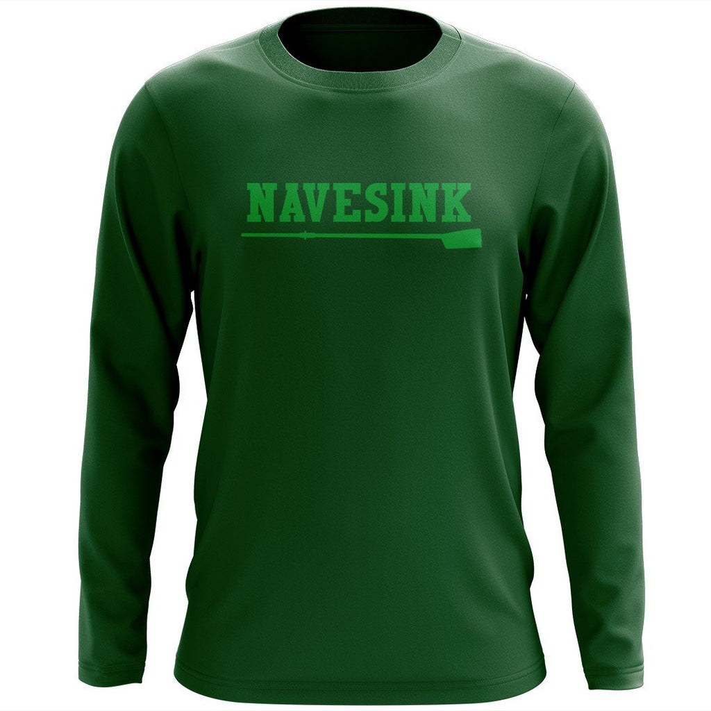 Custom Navesink River Rowing Long Sleeve Cotton T-Shirt