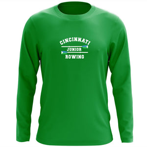 Custom Cincinnati Juniors Rowing Club Long Sleeve Cotton T-Shirt