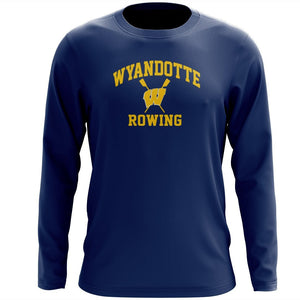 Custom Wyandotte Rowing Long Sleeve Cotton T-Shirt