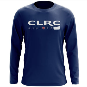 Custom Crystal Lake RC Juniors Long Sleeve Cotton T-Shirt