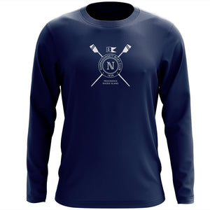 Custom Narragansett Boat Club Long Sleeve Cotton T-Shirt