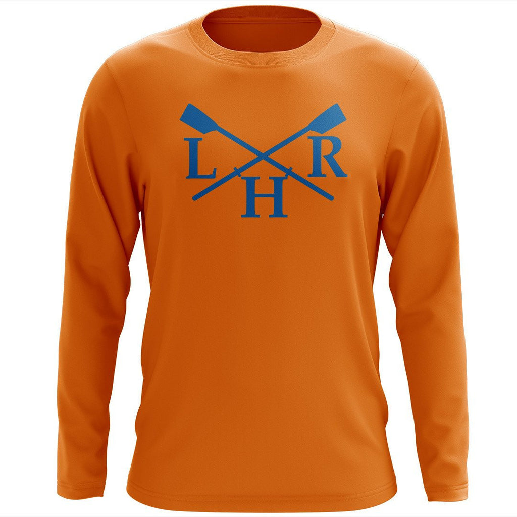 Custom Lake Houston Rowing Long Sleeve Cotton T-Shirt
