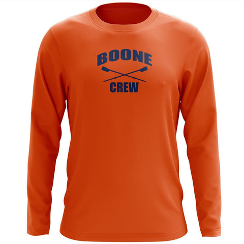 Custom Boone Crew Long Sleeve Cotton T-Shirt