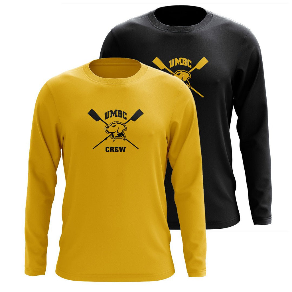 Custom UMBC Crew Long Sleeve Cotton T-Shirt