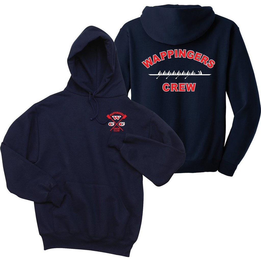 50/50 Hooded Wappingers Crew Club Pullover Sweatshirt - NAVY