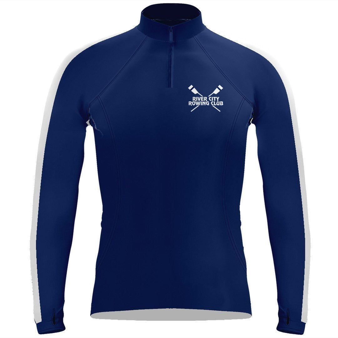 "Long Sleeve  River City Rowing Club  Warm-Up Shirt ""The Works"""